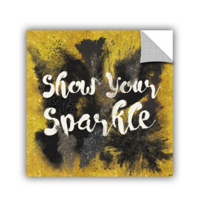 Glitter and Gold II on Gold Removable Wall Decal