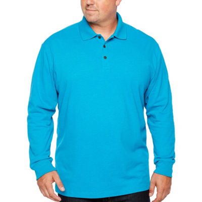 The Foundry Big & Tall Supply Co. Long Sleeve Knit Polo Shirt Big and Tall