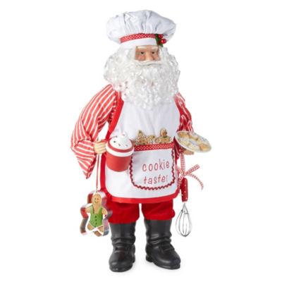 North Pole Trading Co. 18 Inch Baker Handmade Santa Figurine