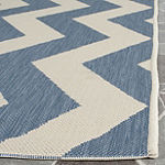 Safavieh Courtyard Collection Kalisha Geometric Indoor/Outdoor Square Area Rug