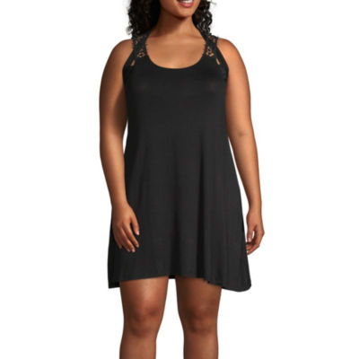 Porto Cruz Knit Swimsuit Cover-Up Dress-Plus