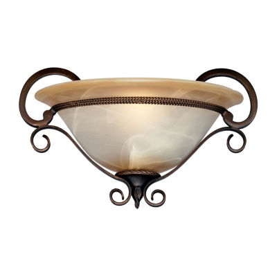 Meridian 1-Light Wall Sconce in Golden Bronze