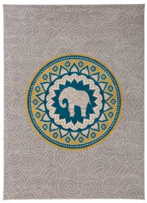 World Rug Gallery Abstract Modern Elephant DesignArea Rug