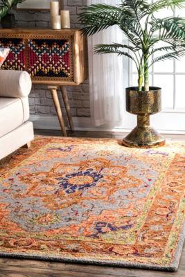 nuLoom Cerda Bohemian Wool Handmade Area Rug