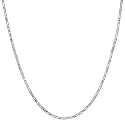 14K Gold Solid Figaro 20 Inch Chain Necklace
