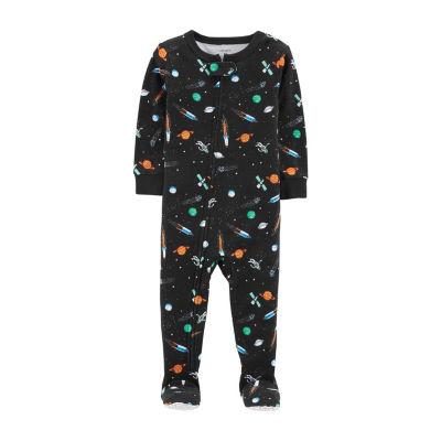 Carter's Boys Knit One Piece Pajama Long Sleeve Round Neck