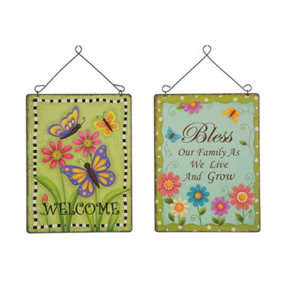 Metal Sentiment Wall Decor Set of 2