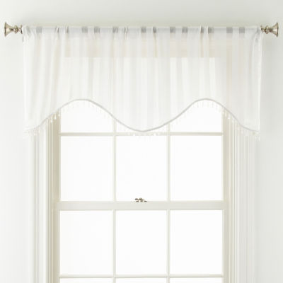 JCPenney Home Cherise Rod-Pocket Scallop Valance