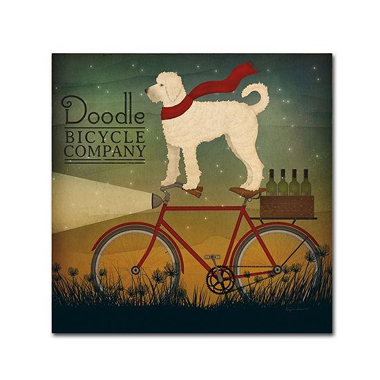 Trademark Fine Art Ryan Fowler White Doodle on Bike Summer Giclee Canvas Art