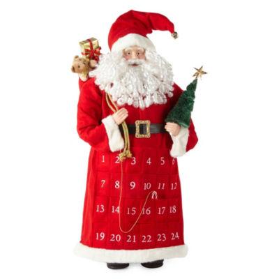 North Pole Trading Co. 36 Inch Advent Handmade Santa Figurine
