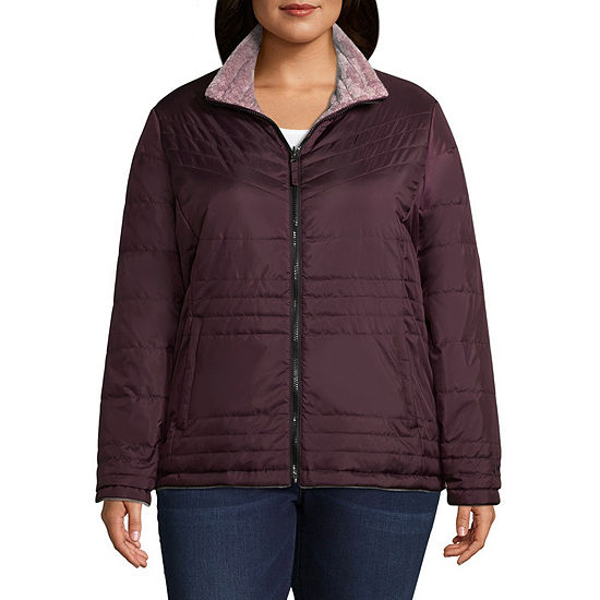 Free Country Reversible Water Resistant Fleece Lined Lightweight Puffer Jacket-Plus