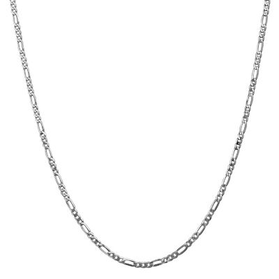 Solid Figaro 20 Inch Chain Necklace