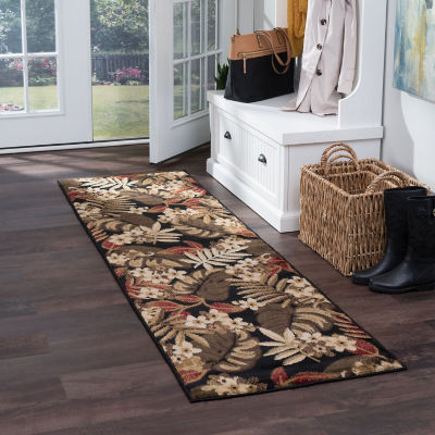 Tayse Carribe Transitional Floral Runner Rug