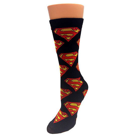 1 Pair Superman Crew Socks Mens