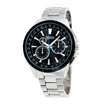 Womens Silver Tone Bracelet Watch-Am4033s50-004