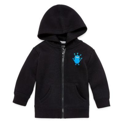 Okie Dokie Monster Zip-Up Fleece Hoodie - Baby Boy NB-24M