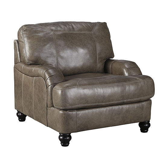 Signature Design By Ashley® Kannerdy Leather Accent Chair