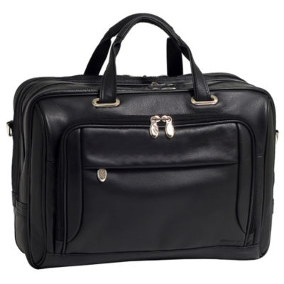 "McKleinUSA West Loop 15.6"" Leather Expandable Double Compartment Briefcase"
