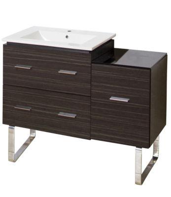 37-in. W 17-in. D Modern Plywood-Melamine Vanity Base Set Only In Dawn Grey