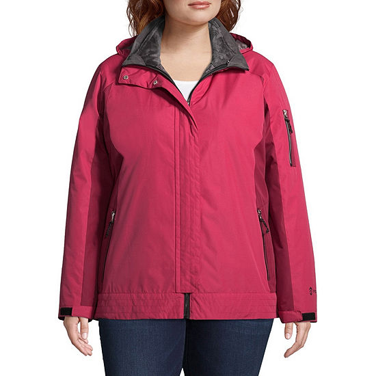 Free Country Hooded Water Resistant Heavyweight 3-In-1 System Jacket-Plus
