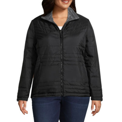 Free Country Lightweight Water Resistant Puffer Jacket-Plus