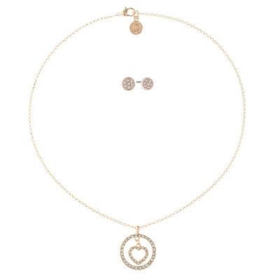 Liz Claiborne Clear Rose Tone 2-pc. Jewelry Set