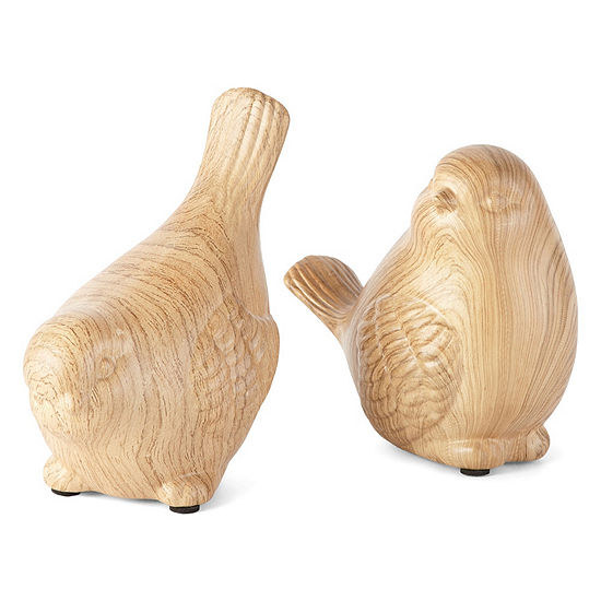JCPenney Home Set of 2 Ceramic Bird Figurines