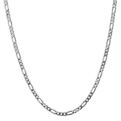 14K Gold Solid Figaro 24 Inch Chain Necklace