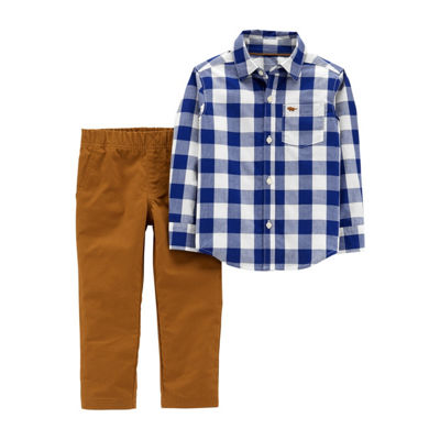 Carter's 2pc Plaid Pant Set - Toddler Boy
