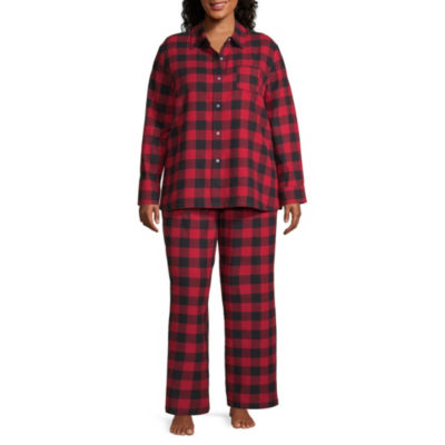North Pole Trading Company Plaid Coat Front 2 Piece Set -Women's Plus