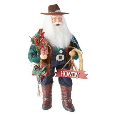 North Pole Trading Co. Cowboy Santa Figurine