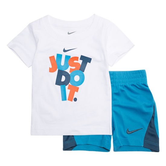 Nike 2-pc.Just Do It Tee Short Set- Baby Boys