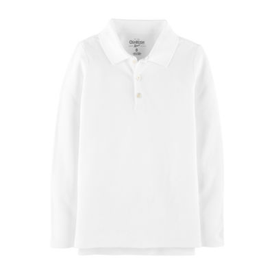 Oshkosh Long Sleeve Knit Polo Shirt - Preschool Girls