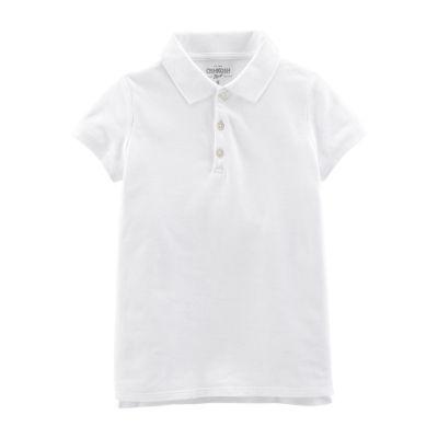 Oshkosh Short Sleeve Knit Polo Shirt - Preschool Girls