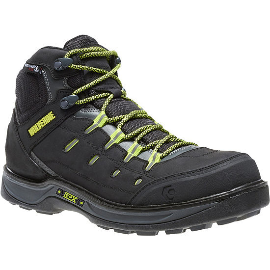 Wolverine Mens Edge Lx Waterproof Slip Resistant Composite Toe Work Boots
