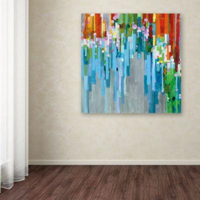 Trademark Fine Art Danhui Nai Rainbow of Stripes Square Giclee Canvas Art