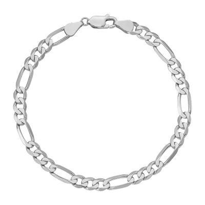 14K Gold 8 Inch Solid Figaro Chain Bracelet