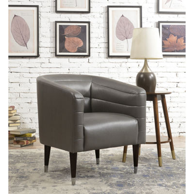 Modern Style Faux Leather Club Chair