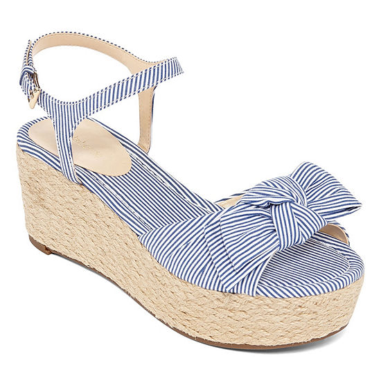 liz claiborne brooklyn womens wedge sandals jcpenney