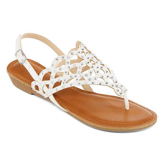 Zigi Soho Womens Maysie Slingback Strap Flat Sandals