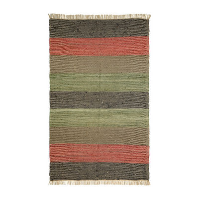 St. Croix Trading Matador Striped Leather Chindi Rectangular Rugs