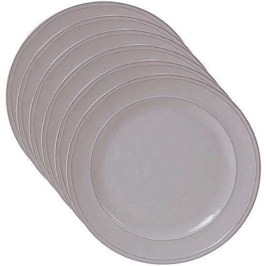 Certified International Orbit Cream 6-pc. Dinner Plate