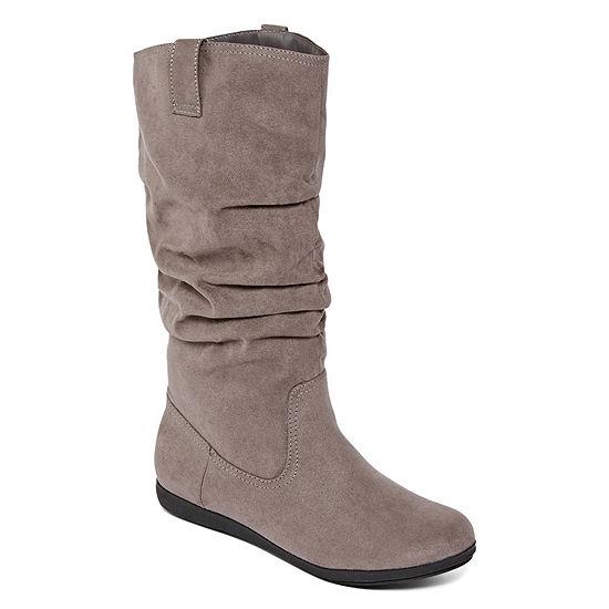 Arizona Womens Kerri Slouch Boots Flat Heel