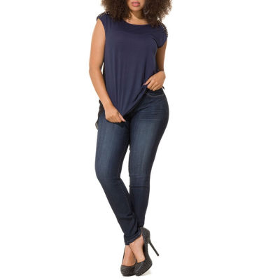 Poetic Justice Curvy Mid-Rise Skinny Jean