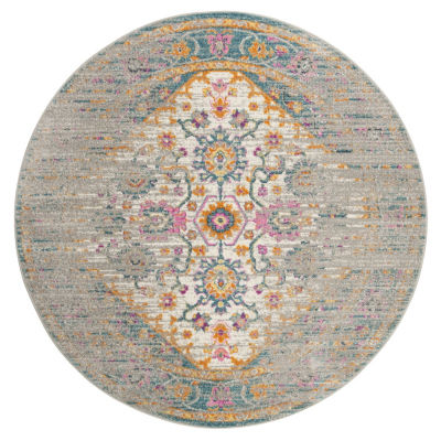 Safavieh Madison Collection Anuki Oriental Round Area Rug