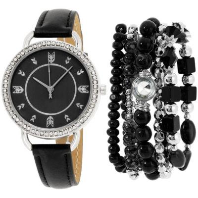 Womens Black Bracelet Watch-St2159s689-322