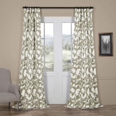 Exclusive Fabrics & Furnishing Sweet Pea Blackout Rod-Pocket/Back-Tab Curtain Panel