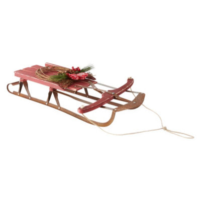 North Pole Trading Co. 33 Inch Sleigh Tabletop Decor