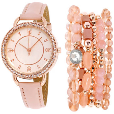Womens Pink Bracelet Watch-St2159rg689-0aa