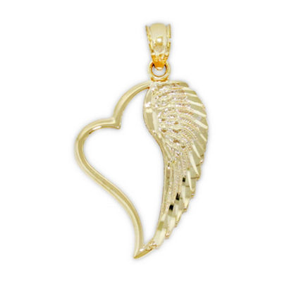 Womens 14K Gold Wing Pendant